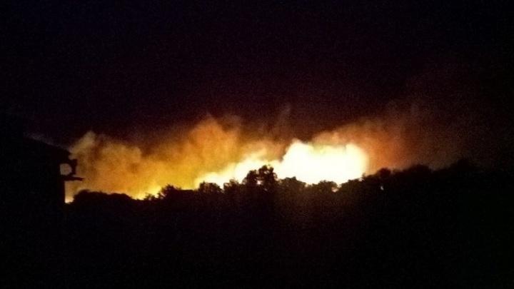 Крупный пожар произошёл в Ростовской области у посёлка Гигант