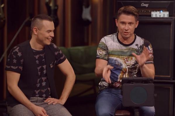 Капитан тюменской команды КВН Айдар Гараев и Тимур Батрутдинов на новом шоу