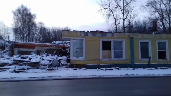 Без «Якоря»: здание бывшего ресторана в Соломбале полностью демонтируют к концу ноября