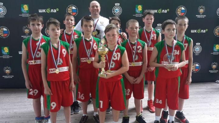 Ростовские спортсмены завоевали золотой кубок на всероссийском фестивале по мини-баскетболу