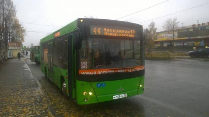 Новый автобус начал работать на одном из самых длинных маршрутов в Архангельске