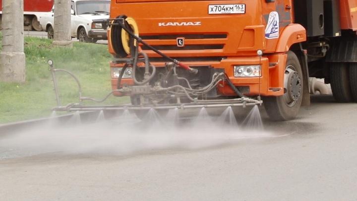 Службы благоустройства рассказали, зачем в Самаре моют улицы в дождь
