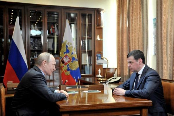 Накануне Владимир Путин встретился с Дмитрием Мироновым