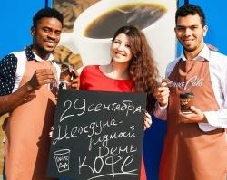 На АЗС в Тюмени клиентов угостили натуральным кофе