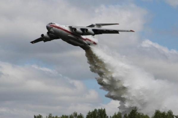 Авиатехника уже была задействована в тушении крупного пожара в Михайловском районе