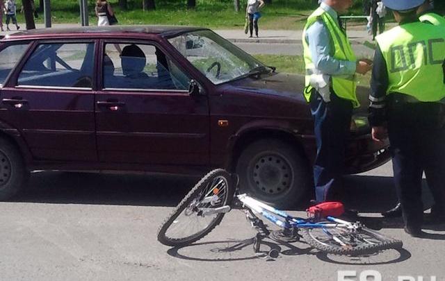 Водитель ВАЗа сбил в Перми девятилетнего велосипедиста
