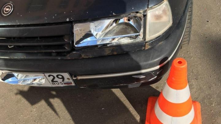 В Северодвинске водитель иномарки сбил юного пешехода