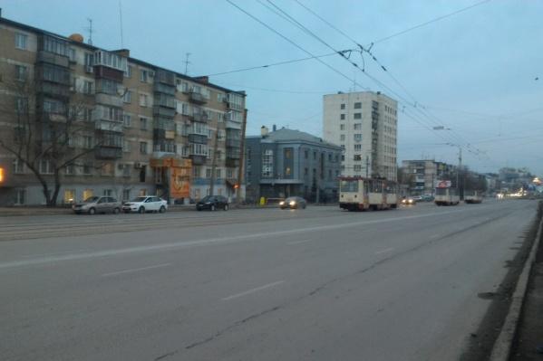 Трамваи стояли около часа
