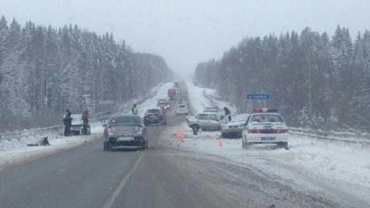 На трассе М-7 «Волга» на подъезде к Перми в аварии погибла 42-летняя женщина