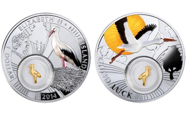 В офисах Татфондбанка появились монеты «Аист на удачу»
