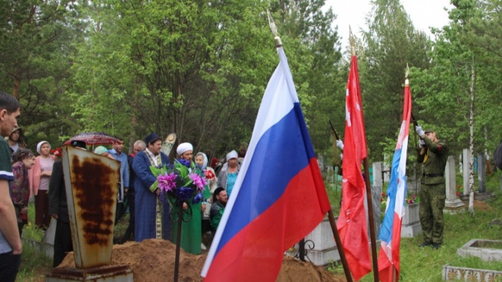 С военными почестями: в Перми захоронили останки фронтовика, погибшего под Ржевом