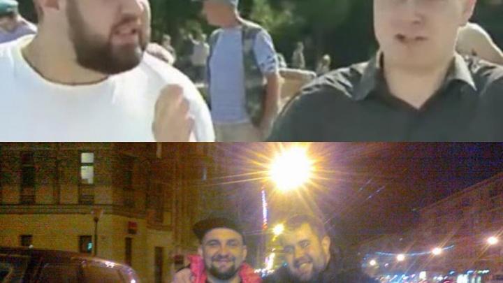 Баста опубликовал совместное фото с ударившим журналиста НТВ