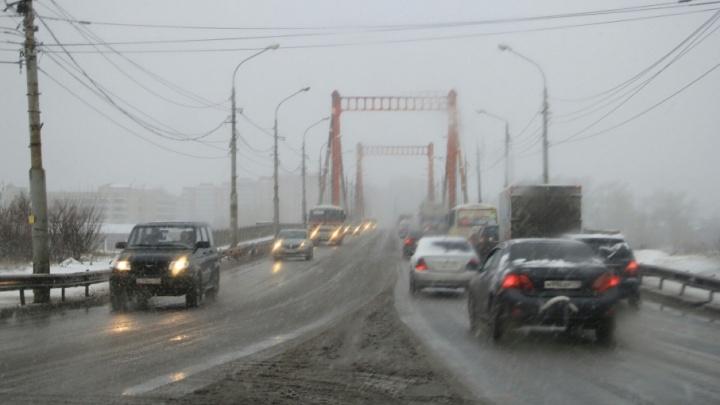 Воскресенье Архангельская область встретит мокрым снегом и южным ветром