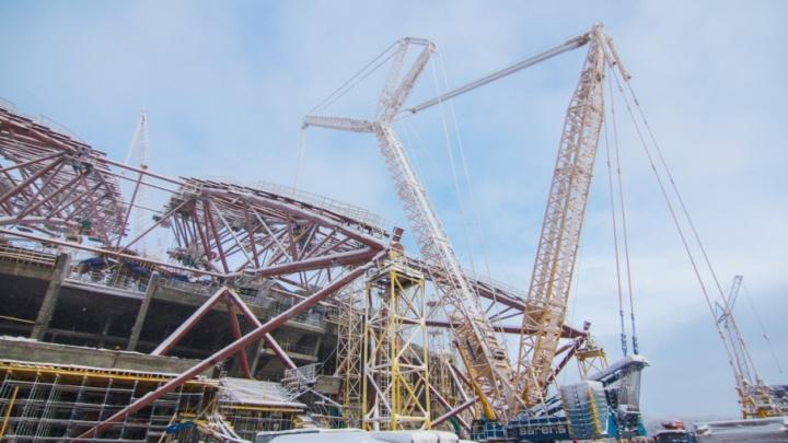 Строительство стадиона «Самара Арена» могут остановить на три месяца