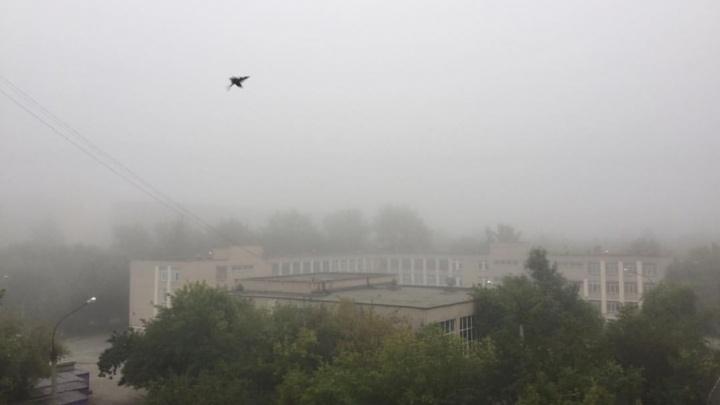 Дальше своего носа не видно: Челябинск накрыла пелена густого тумана