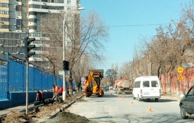 В Волгограде начат ремонт улицы Кубанской