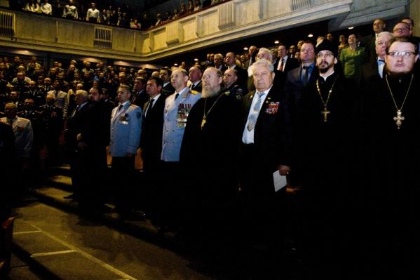 Имперский гимн сотрудники МВД пели на празднике вместо «Наша служба и опасна, и трудна»