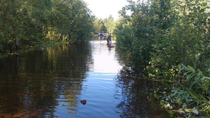 В Васьково затопило единственную дорогу к двум дачным поселкам