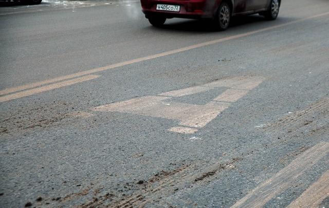 Дорожную разметку в Тюмени обновят после потепления