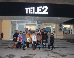 Tele2 провел мобильный урок для шахтинских школьников