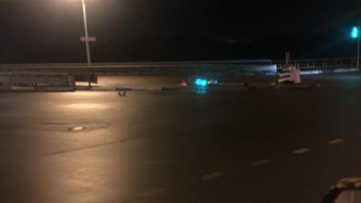 Упал, но не сдался: в Ярославле светофор продолжил работать после ДТП