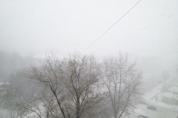 Сильные снегопады могут обрушиться на область в пятницу, 27 октября
