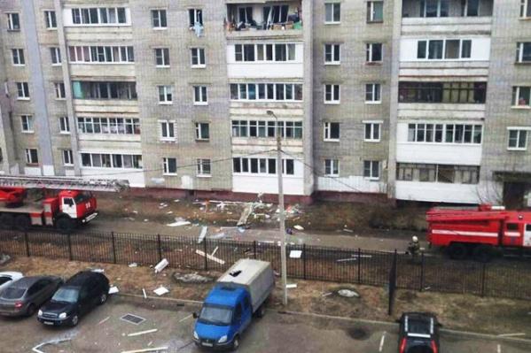 Взорвалась квартира на пятом этаже