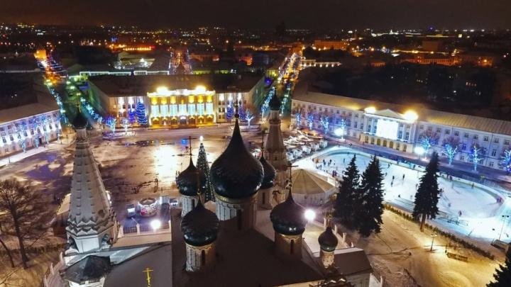 Завораживающее видео: ярославец снял новогодний город с высоты птичьего полёта