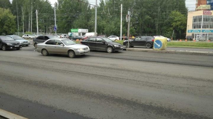От Дружбы до Ушинского: в Перми на бульваре Гагарина уложен новый асфальт