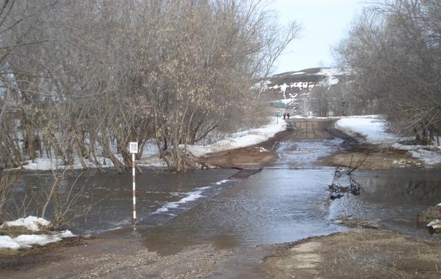 В Самарской области из-за паводка изменилось автомобильное движение через реку Кутулук