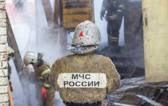 В историческом центре Самары сгорел расселенный дом