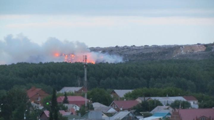На городской свалке в Челябинске ликвидировали открытое горение