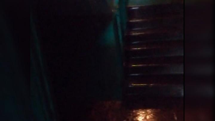 Вода текла по электрощиткам: в Ярославле после дождя залило весь подъезд