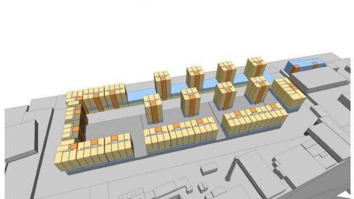 На улице Максима Горького хотят построить восемь многоэтажек