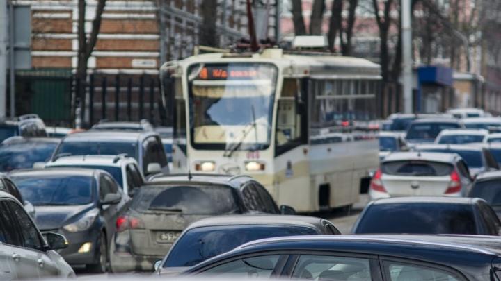 В Ростове зафиксированы десятибалльные пробки