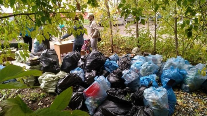 Три тонны мусора собрали у Данилихи: в Перми прошли «Чистые игры»