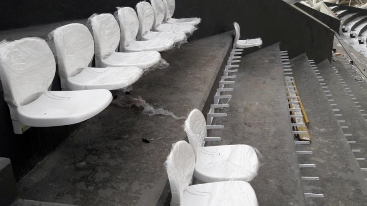 Монтаж кресел на стадионе «Самара-Арена» продолжат после вывоза лишних конструкций