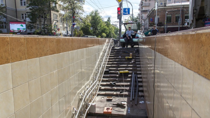 Переход в центре Ростова благоустраивают для инвалидов