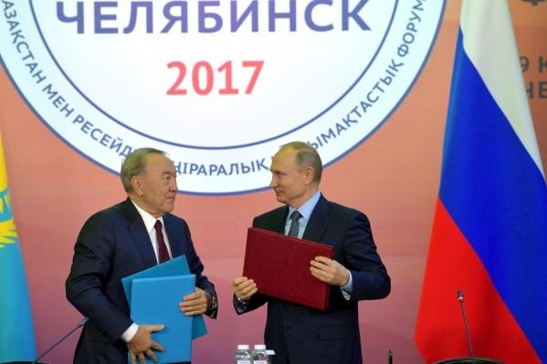 Несмотря на подписание многочисленных официальных документов, Назарбаев вспомнил о том, как пил пиво с Путиным в Челябинске много лет назад