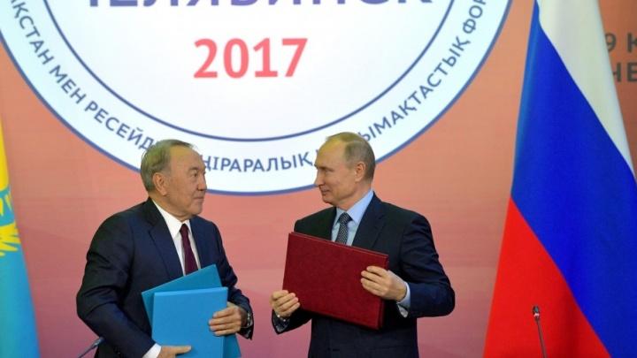 «На улице где-то пиво пили»: Назарбаев в Челябинске вспомнил о неформальной встрече с Путиным