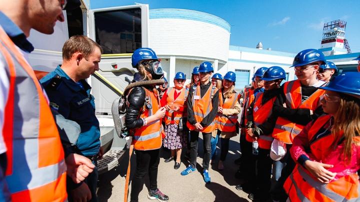 Посетители Гремячинского ГОКа увидели строящийся комбинат с высоты птичьего полета