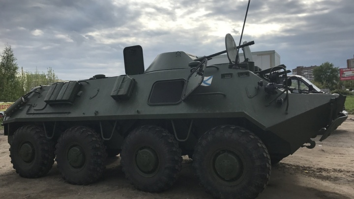 Стала известна судьба боевой машины, появившейся на парковке у ярославского автосервиса