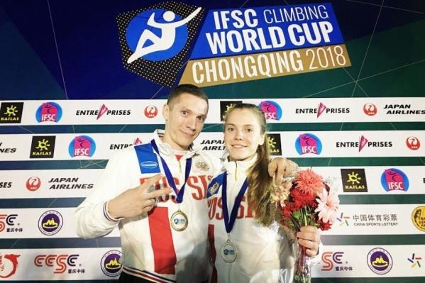 Дмитрий и Елена стали призерами Кубка мира по скалолазанию