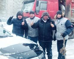 Автоцентр «Артекс» помог водителям выбраться из снега