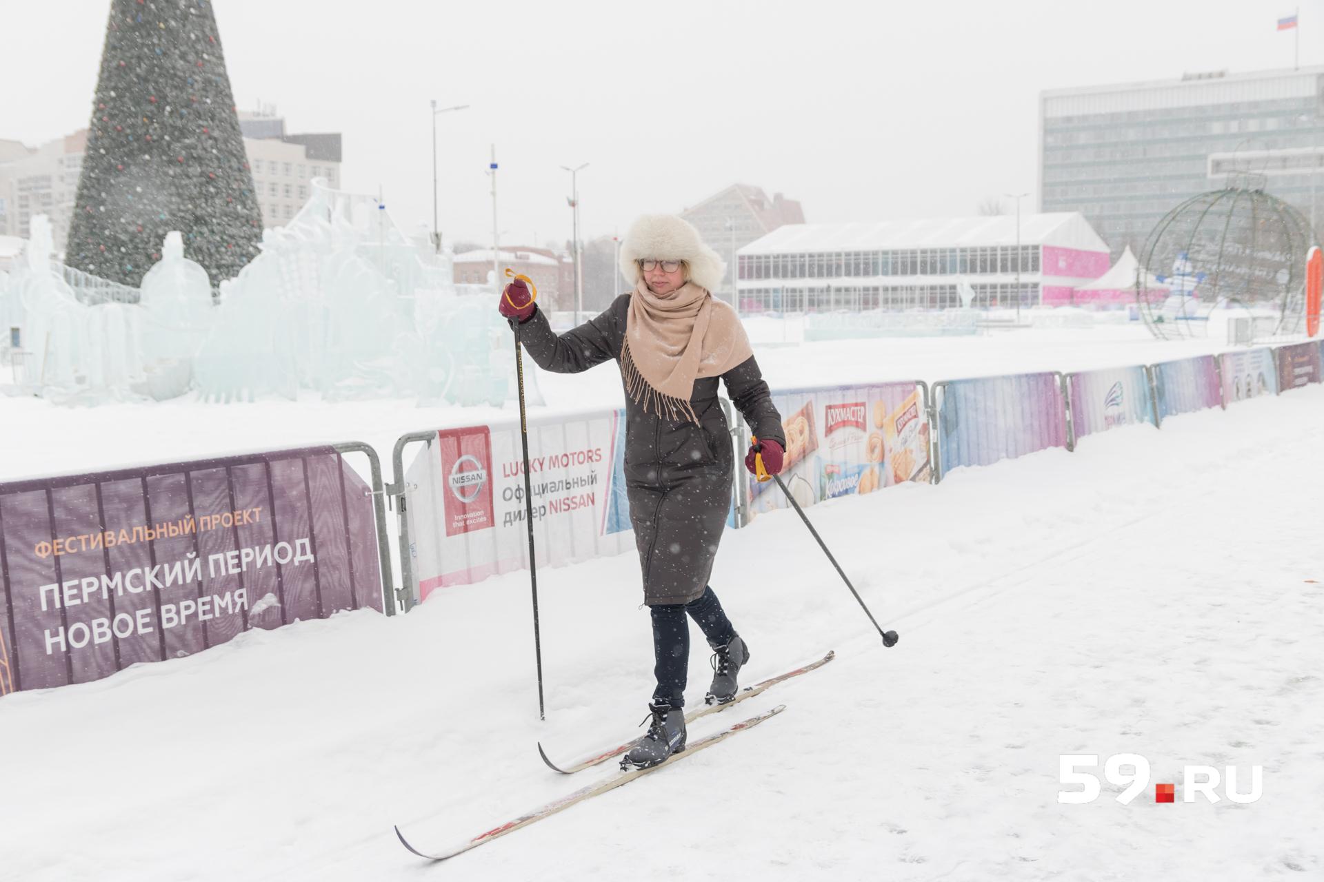 Пробежка вокруг ледового городка