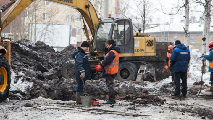 Кинотеатр, молочная кухня и ряд домов в центре Архангельска остались без воды