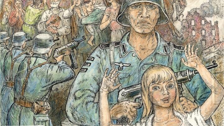 Смерть, страх и немцы: волгоградец нарисовал ужас своего детства в Сталинграде