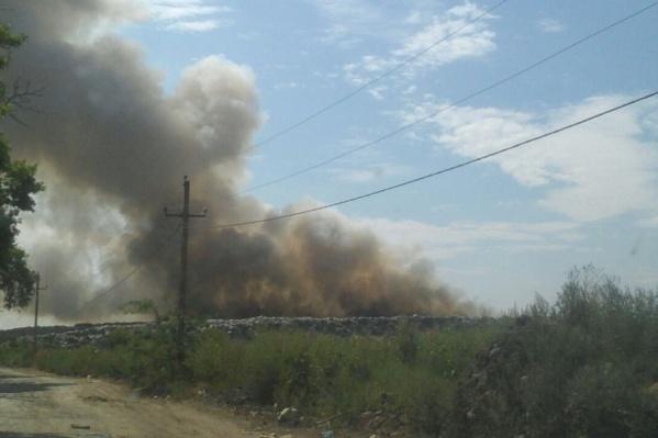 Открытое горение спасатели потушили еще вчера