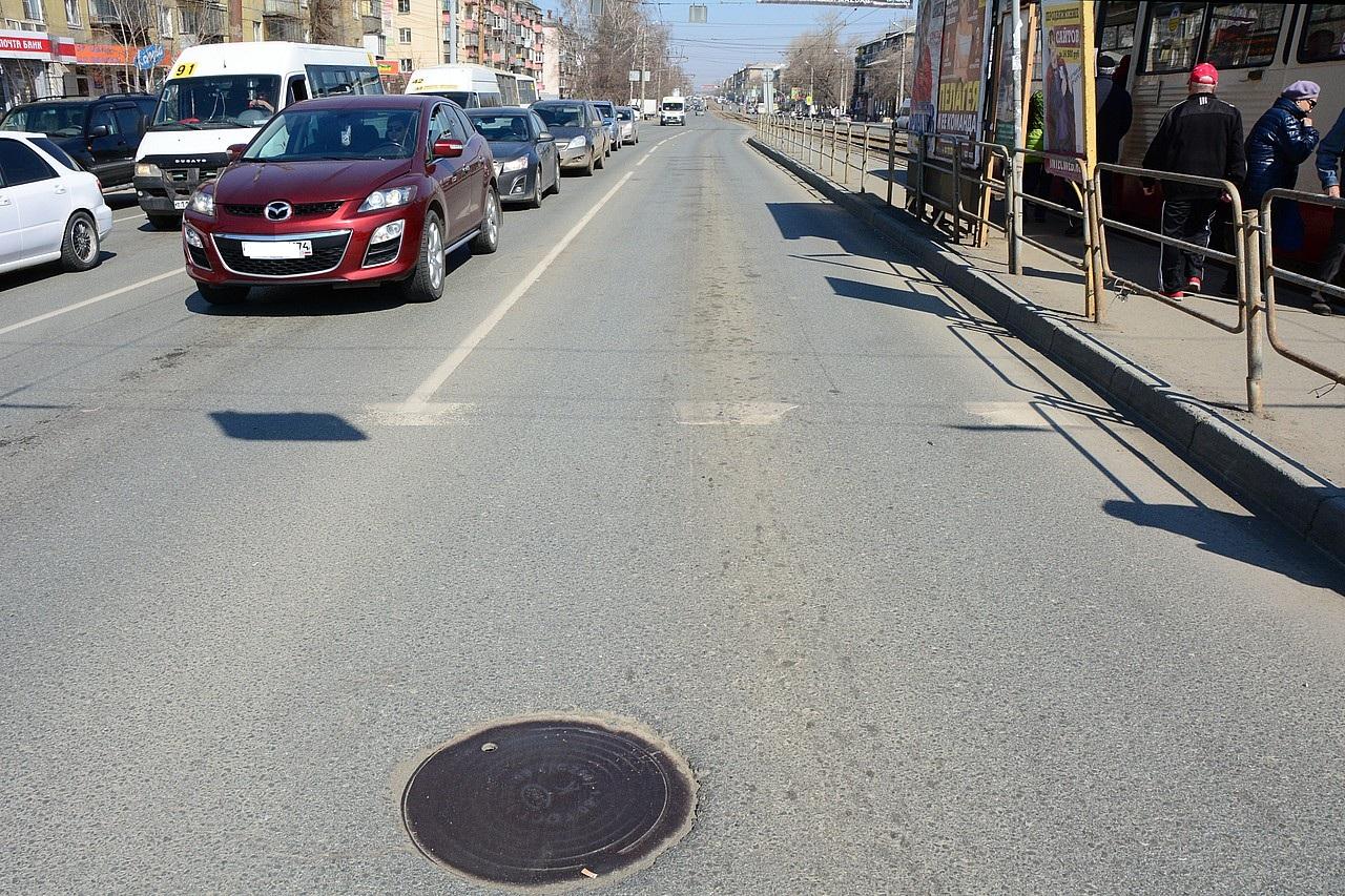 Аналогично на улице Гагарина в районе пересечения с Дзержинского