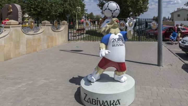 Нашествие Забивак: в Волгограде поселился еще один волк с мячом